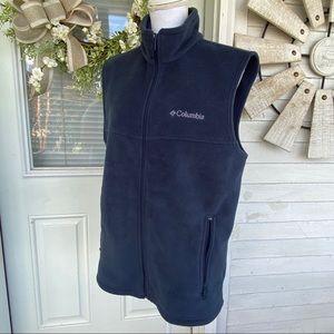 Columbia Blue Zip Up Fleece Vest
